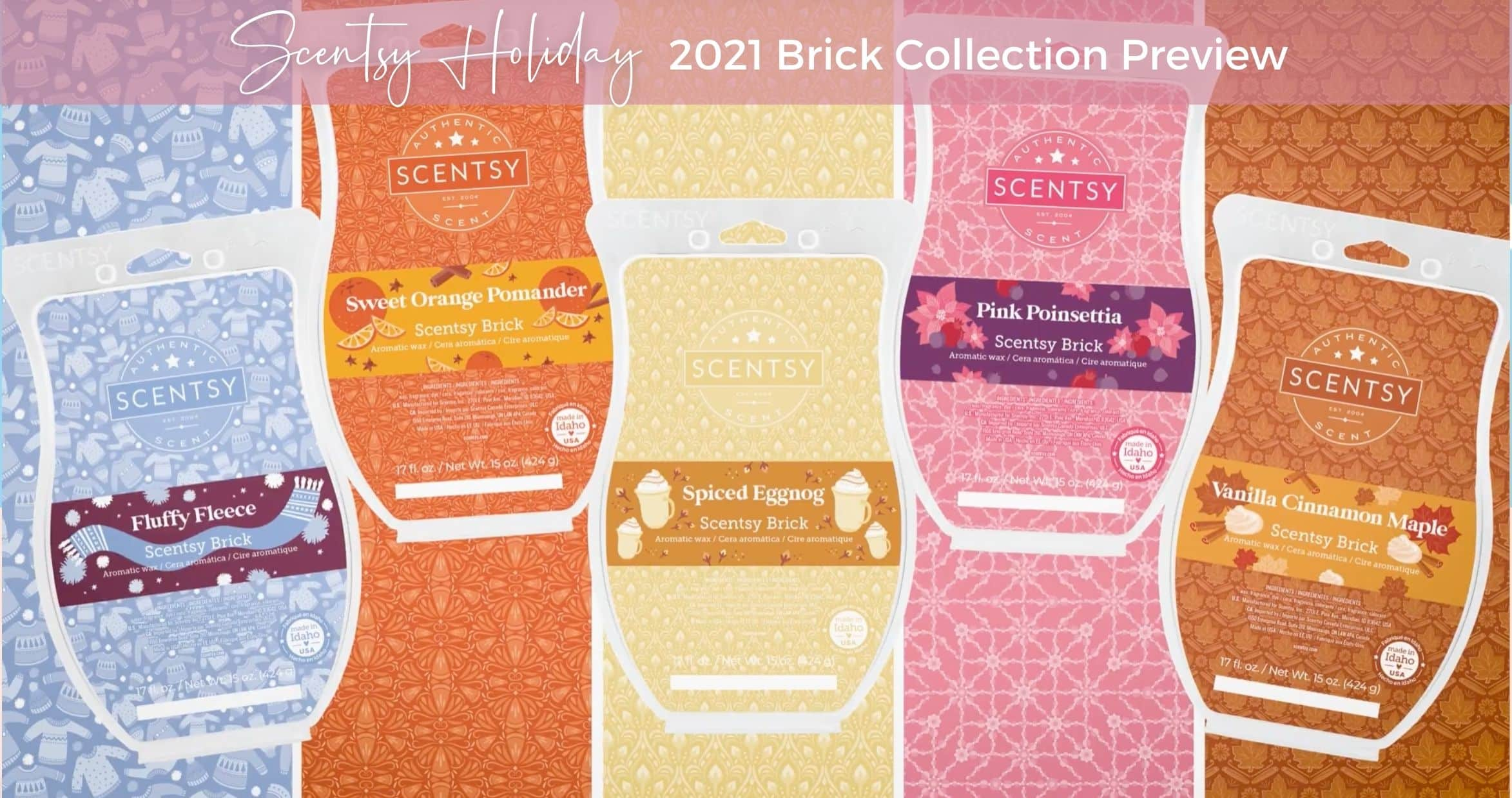 Scentsy Holiday Brick Collection Preview