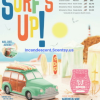 SCENTSY JUNE 2018 WARMER & SCENT OF THE MONTH - COASTAL CRUISER SCENTSY WARMER & WATERMELON WAVE SCENTSY FRAGRANCE