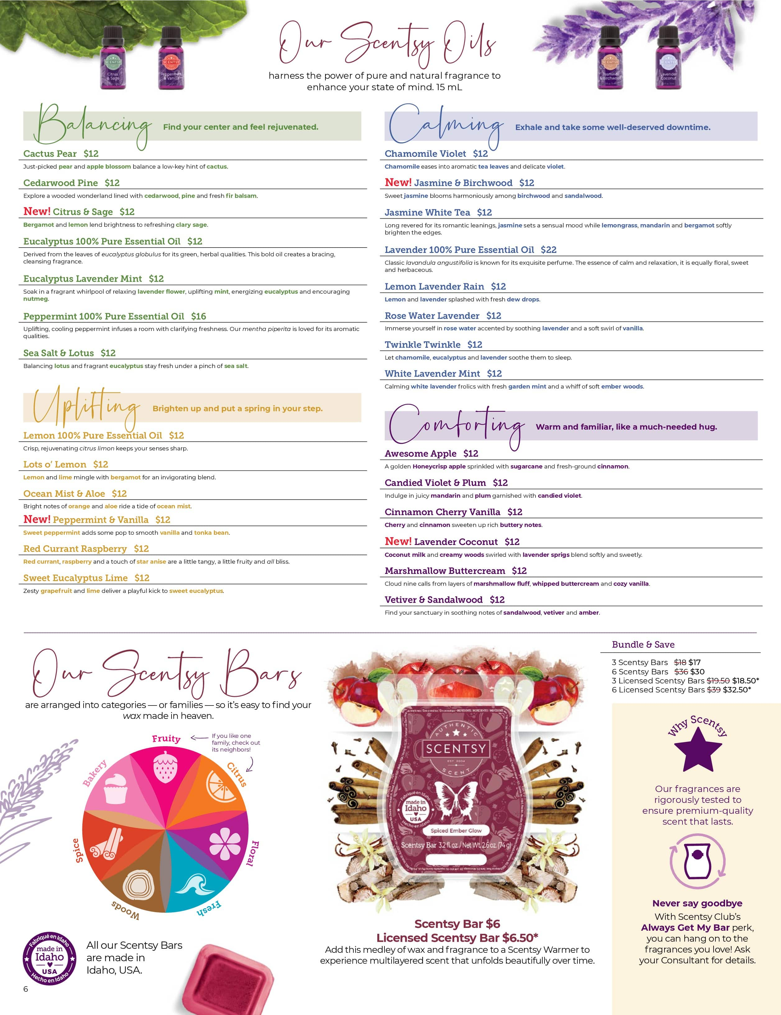 Scentsy Oils   Scentsy Fall 2021 Catalog Scent List