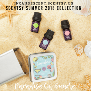 SCENTSY PARADISE SUMMER 2018 NATURAL OIL BUNDLE (3 OILS)