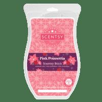Scentsy Pink Poinsettia Brick 2021 Holiday2