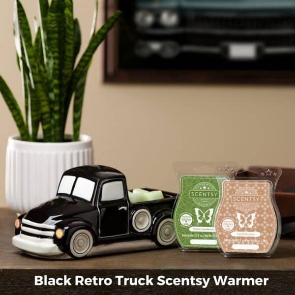 Scentsy Retro Truck Black Warmer | NEW! Retro Black Truck Scentsy Warmer | Father's Day 2021 | Incandescent.Scentsy.us