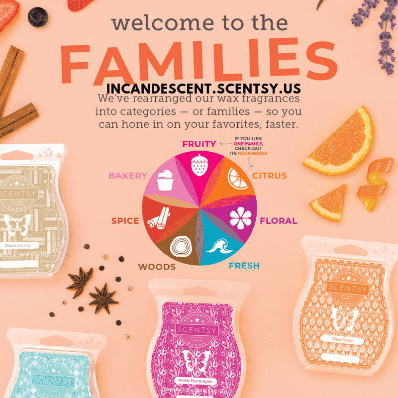 Scentsy Scent Families (1) | SCENTSY COMPLETE SCENT LIST FOR SPRING SUMMER 2019 | SCENTSY LIST OF FRAGRANCES | Scentsy® Online Store | Scentsy Warmers & Scents | Incandescent.Scentsy.us