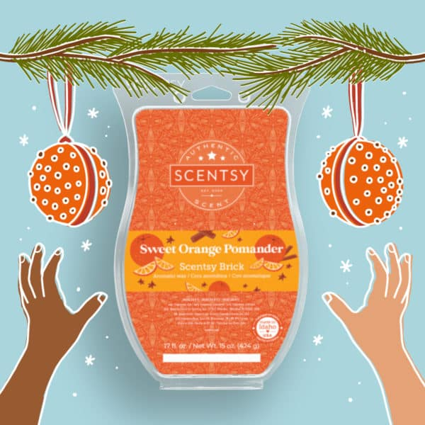 Scentsy Sweet Orange Pomander Brick 2021 Holiday2   Sweet Orange Pomander Scentsy Brick   Holiday 2021