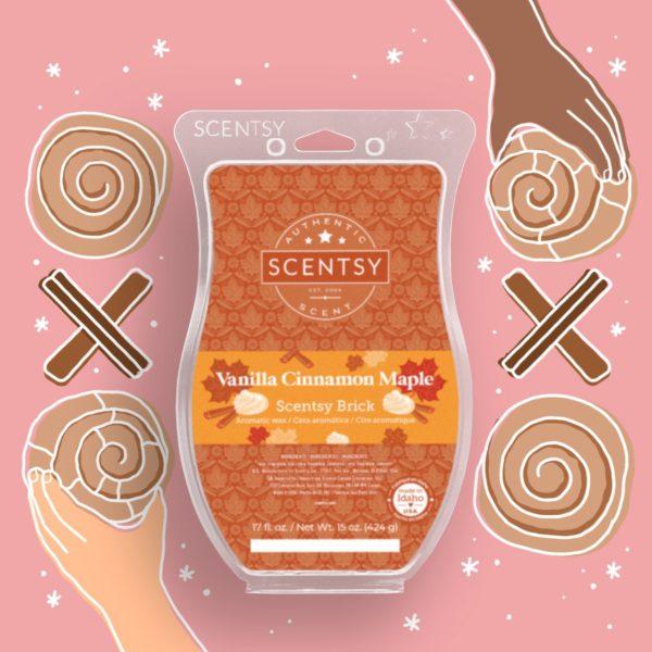 Scentsy Vanilla Cinnamon Mape Brick 2021 Holiday1   Vanilla Cinnamon Maple Scentsy Brick   Holiday 2021