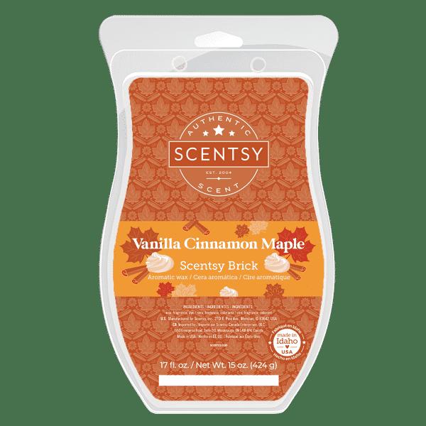 Scentsy Vanilla Cinnamon Mape Brick 2021 Holiday2 | Vanilla Cinnamon Maple Scentsy Brick | Holiday 2021