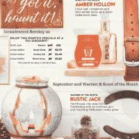 SCENTSY SEPTEMBER 2018 WARMER & SCENT OF THE MONTH - RUSTIC JACK SCENTSY WARMER & AMBER HOLLOW SCENTSY FRAGRANCE