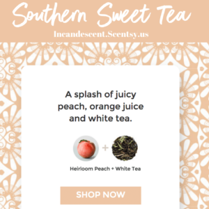 Southern Sweet Tea Scentsy ScenTrend 2018 Incandescent.Scentsy.us | SCENTSY ScenTrend 2018 Heirloom Peach Fragrance
