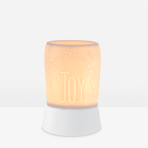 Spirit of Joy Mini Scentsy Warmer on Tabletop | Spirit of Joy Mini Scentsy Warmer | Incandescent.Scentsy.us