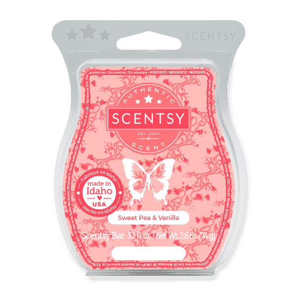 Sweet Pea Vanilla Scentsy Bar