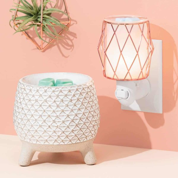TAKE A STAND SCENTSY WARMER AND WIRE YOU BLUSHING SCENTSY MINI WARMER