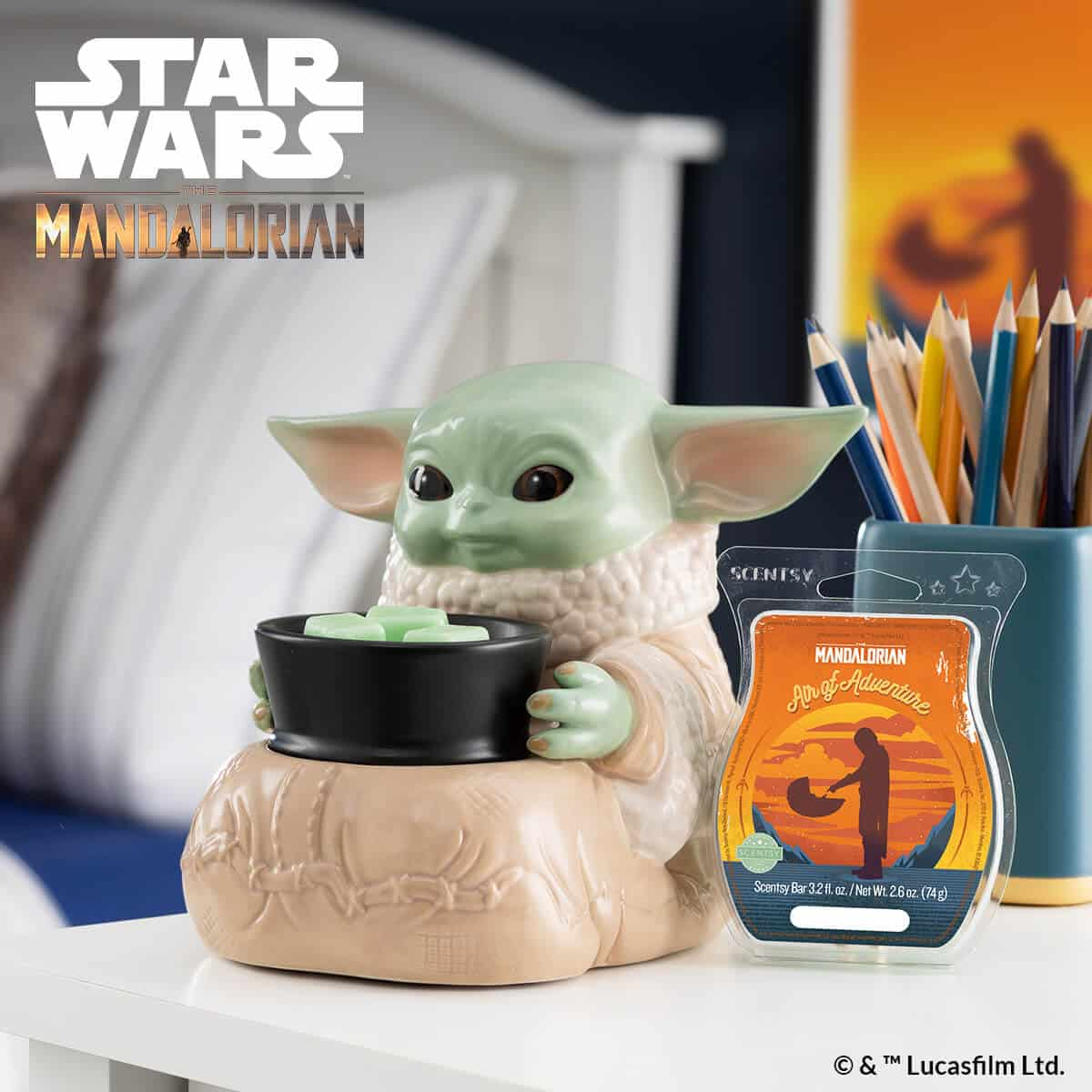NEW! Baby Yoda The Child Scentsy Warmer | Star Wars The Mandalorian | Shop 12/7