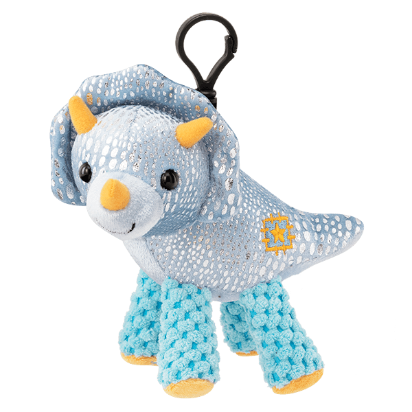 Terra the Triceratops with Tropic Tango Scentsy Buddy Clip 1