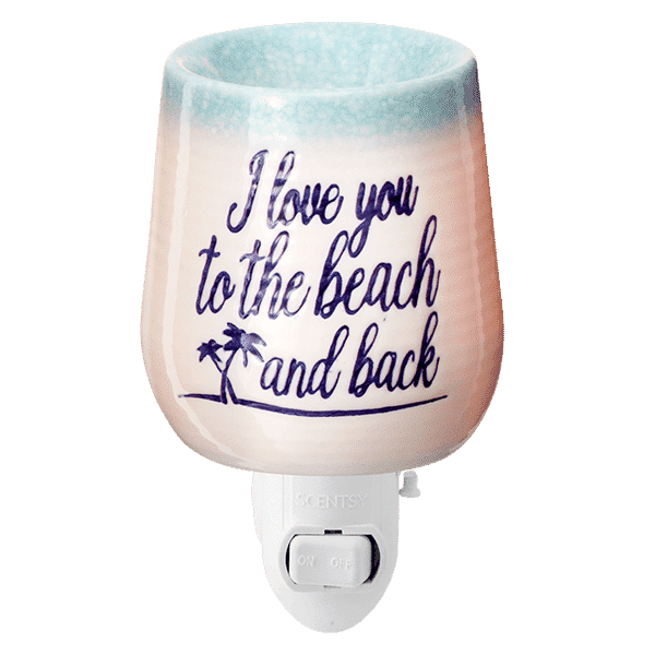 To the Beach Mini Scenty Warmer Off   NEW! To The Beach & Back Mini Scentsy Warmer   Incandescent.Scentsy.us