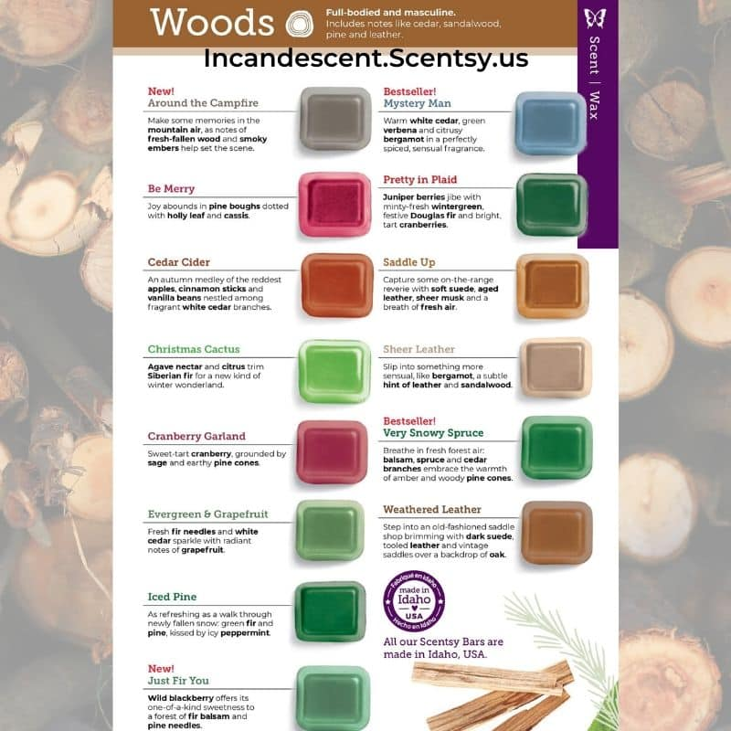 WOODS FRAGRANCES SCENTSY FALL 2020 CATALOG