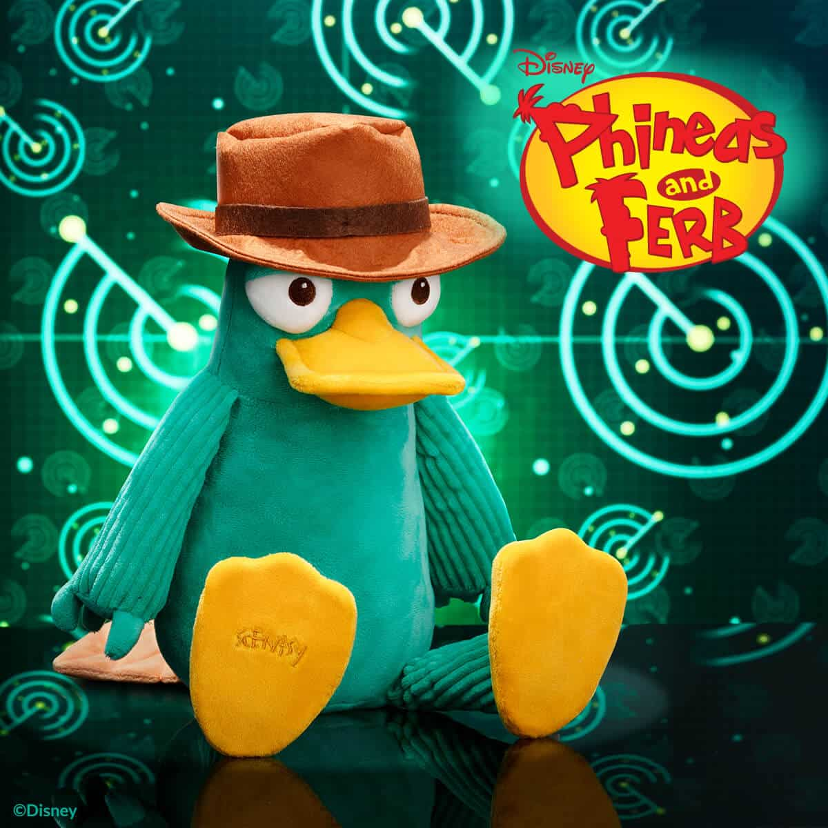 PHINEAS & FERB - PERRY THE PLATYPUS SCENTSY BUDDY