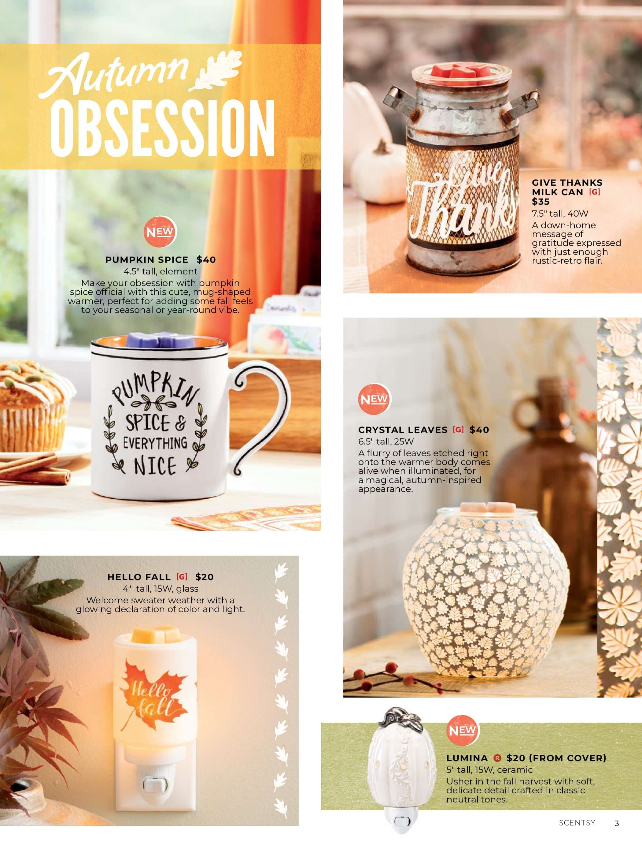 New Perfectly Pumpkin Scentsy Oil Set Harvest 2019 Shop Scentsy Incandescent Scentsy Us