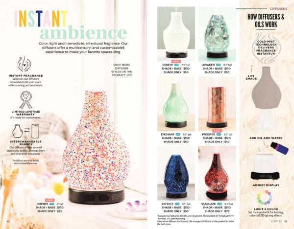 SCENTSY DIFFUSERS FALL 2018 | NEW! RENEW SCENTSY DIFFUSER SHADE ONLY | Shop Scentsy | Incandescent.Scentsy.us