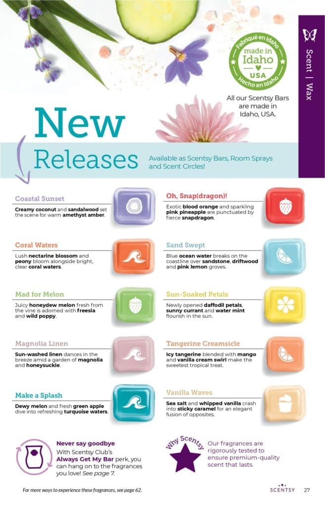 page 26 7 | Scentsy Complete Scent List for 2021 Spring Summer