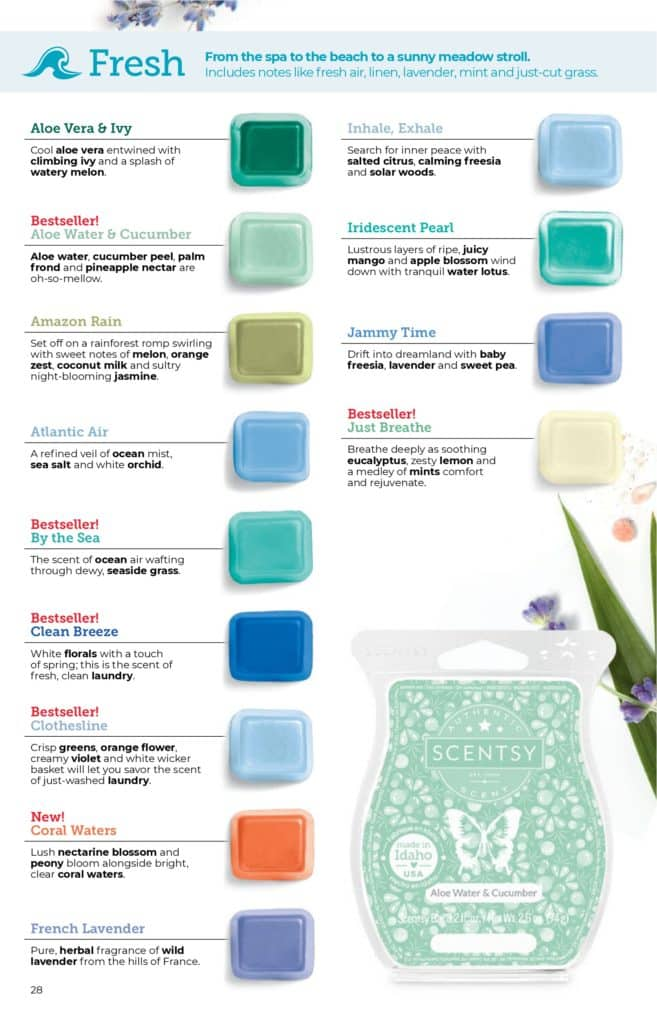 page 27 8 | Scentsy Complete Scent List for 2021 Spring Summer