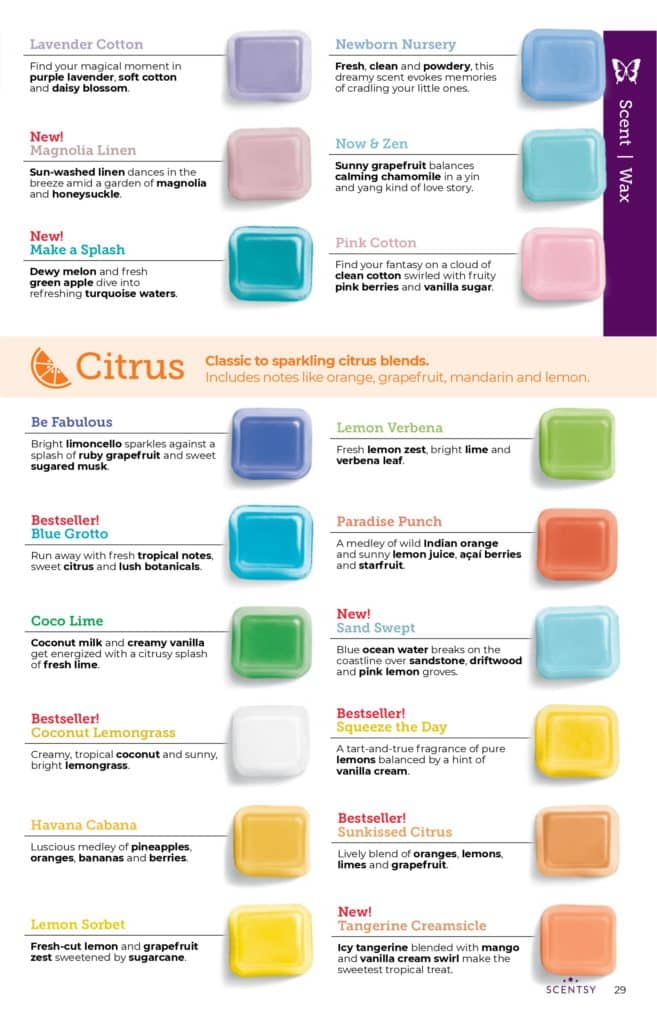 page 28 7 | Scentsy Complete Scent List for 2021 Spring Summer
