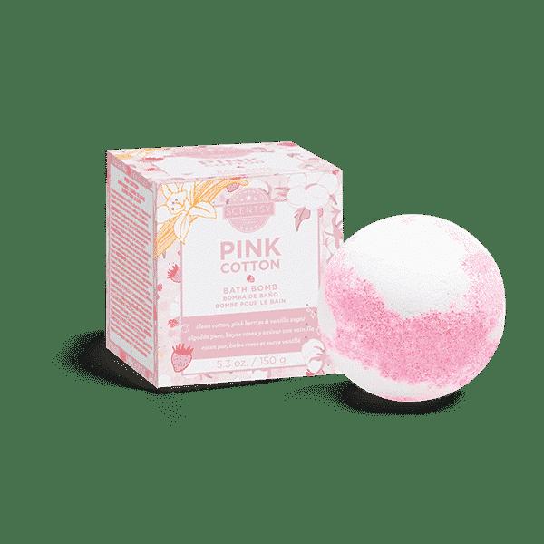 PINK COTTON SCENTSY BATH BOMB