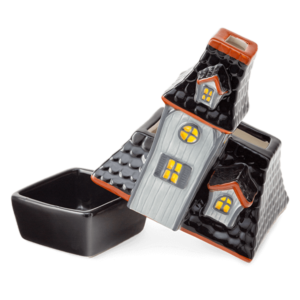 SCENTSY HAUNTED HOUSE DISH AND LID