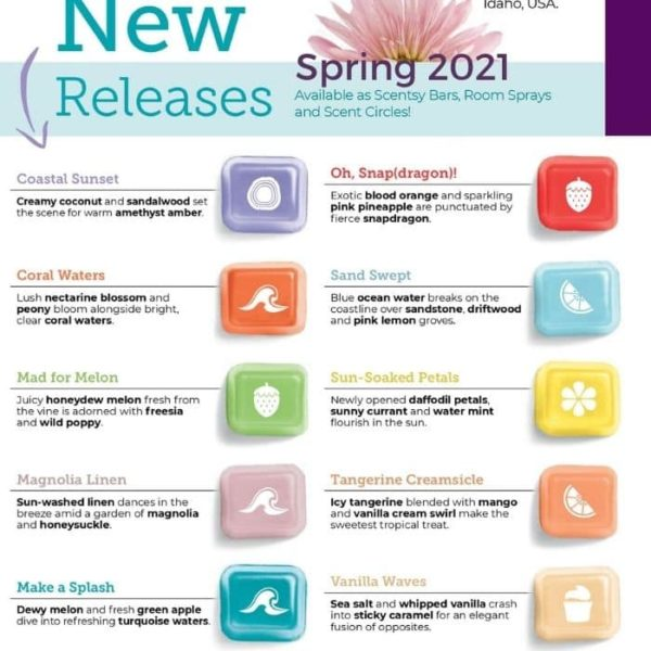 scentsy Spring new release fraagrances | NEW! Coastal Sunset Scentsy Bar | Shop Scentsy | Incandescent.Scentsy.us