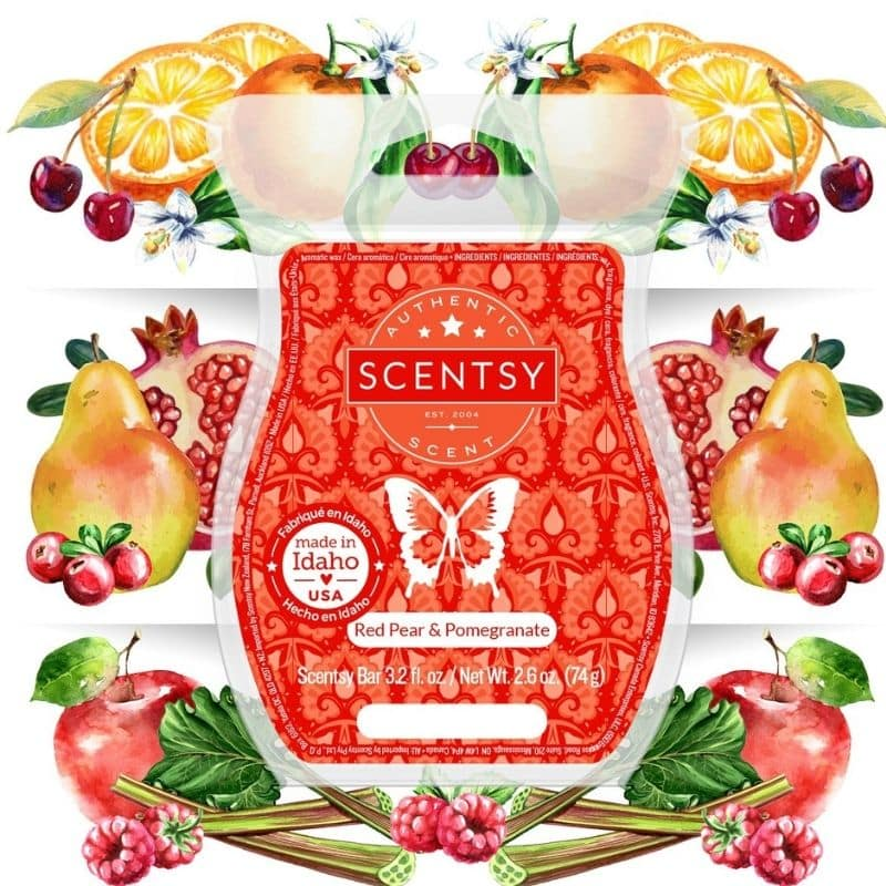 scentsy red pear pomegranate fragrance