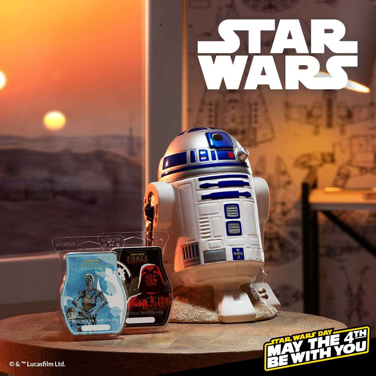 SCENTSY STAR WARS R2D2 WARMER AND SCENTS